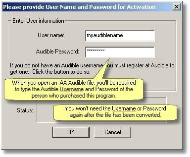 How can I convert Audible com  AA files to MP3 audio files