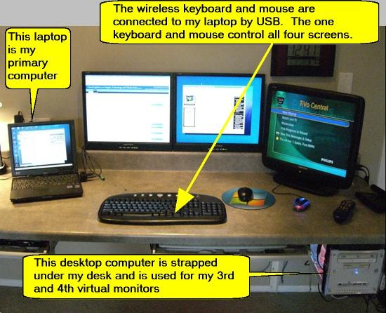 Using Dual LCD Monitors - up to 4 lcd monitors!