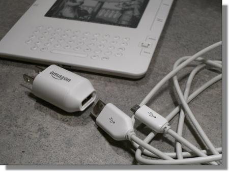amazon-kindle-2-unboxed-ebook-reader-usb-power-cord