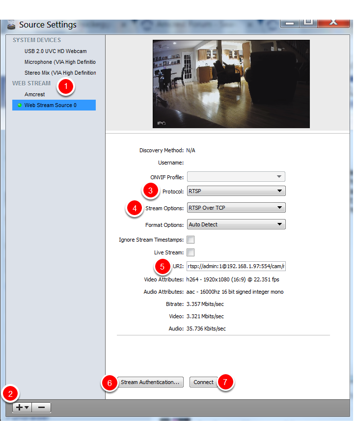 Using a Cheap HD 1080P IP Camera With Wirecast | Chuck