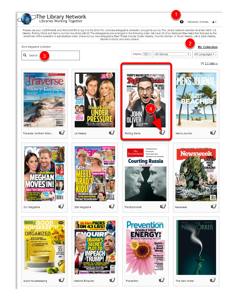 What are some popular large print magazines for seniors?