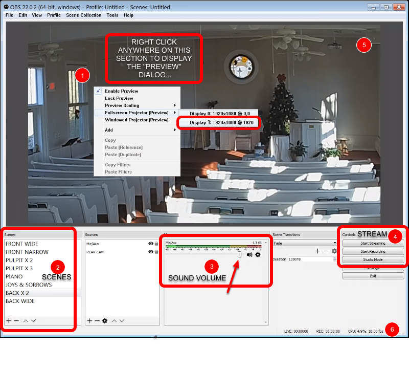 Open Broadcaster Software / OBS Studio / Simple Setup Church